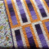 Purple and orange optical quilt