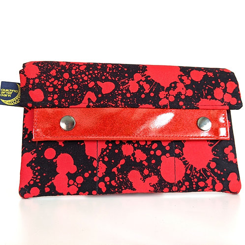 Blood Spatter minimalist wallet