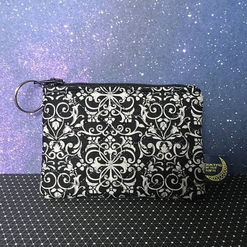 Card pouch - grey scroll