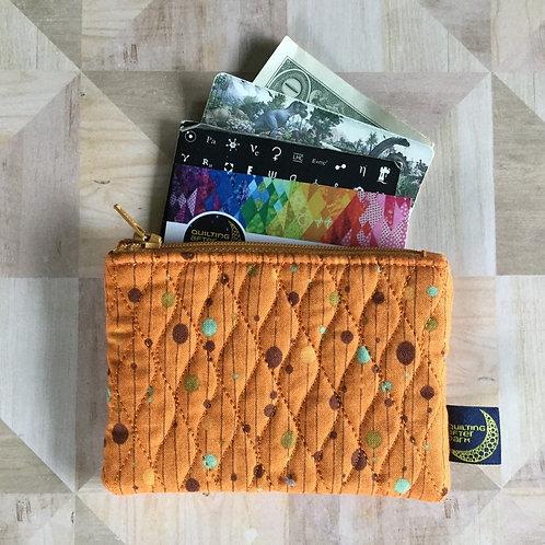 Card pouch - retro orange