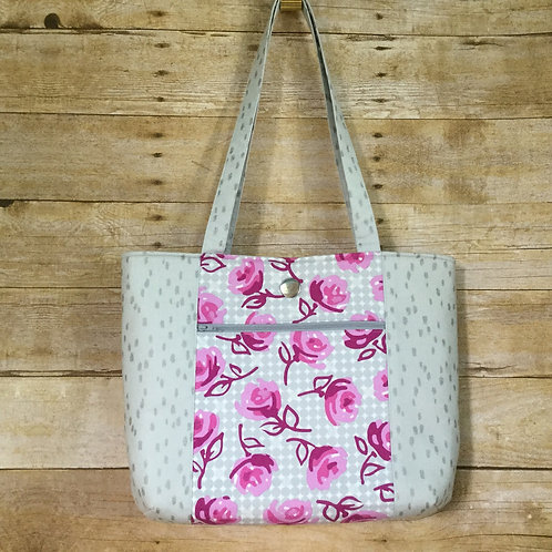 Silver Roses tote