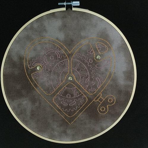 Clockwork Heart embroidery