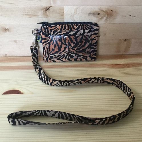 Lanyard card holder - jungle batik