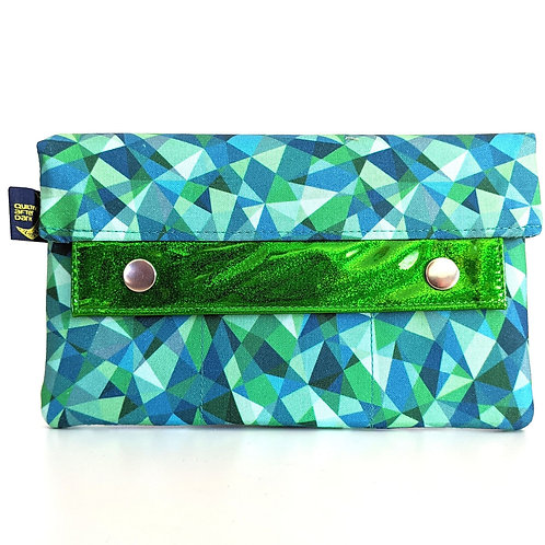 Teal Mosaic minimalist wallet