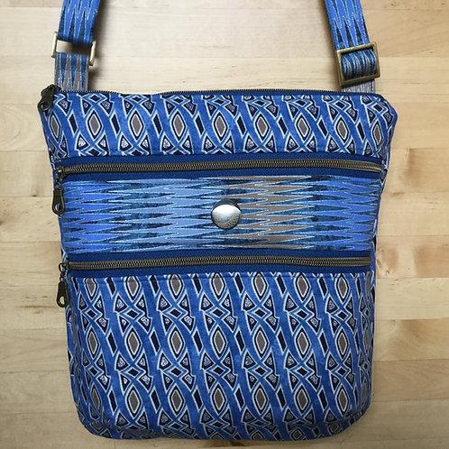 Triple Zip - blue facets
