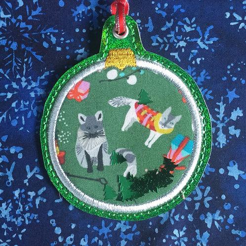 Snow Globe ornament - christmas dogs