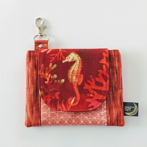Mini clip wallet - seahorse