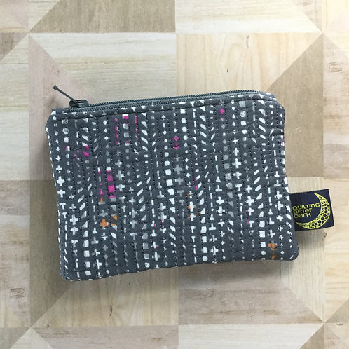 Card pouch - grey shapes