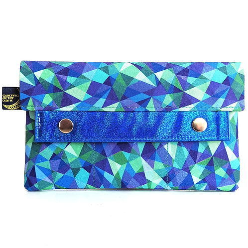 Blue Mosaic minimalist wallet