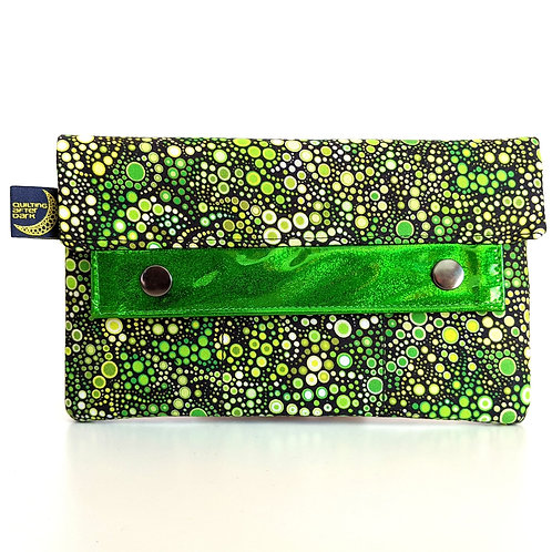 Green Dots minimalist wallet