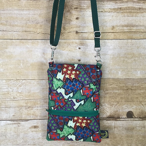 Phone crossbody - christmas trees