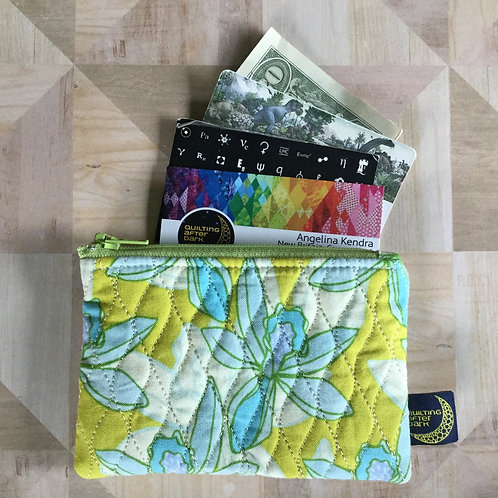 Card pouch - yellow floral