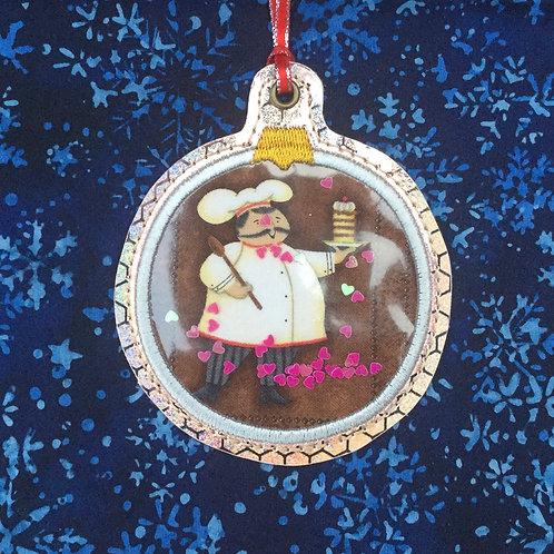 Snow Globe ornament - chef