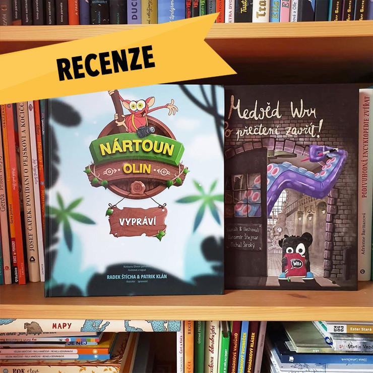 Nártoun Olin v knihovničce knižní blogerky Jeduvknize