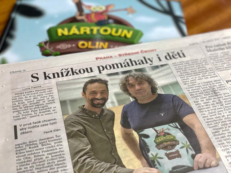 Nártoun Olin hrdinou sobotního deníku Právo