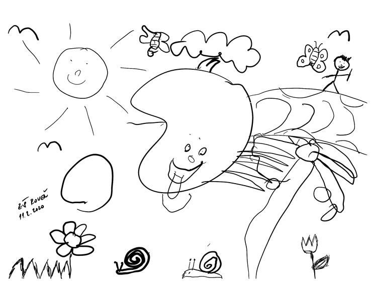 Společná ilustrace dětí ZŠ Roveň