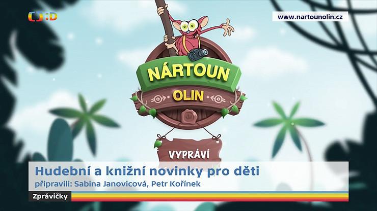 Nártoun Olin ve zprávičkách dětské televize Déčko