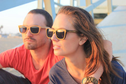Benjees Waikiki and Bondi Wave bamboo sunglasses