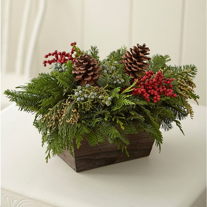 Holiday wreath and arrangement delivery