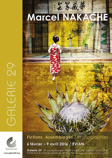 Affiche exposition de Marcel Nakache Galerie 29, à Evian les Bains du 6 février au 9 avril 2016