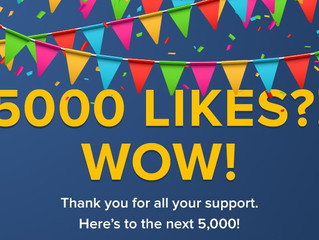 A BIG thank you to our 5000+ fans!
