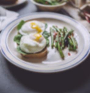 Пашот Яйца на Кексы