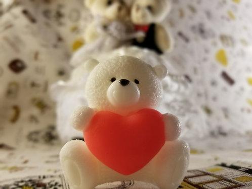 愛心熊肥皂