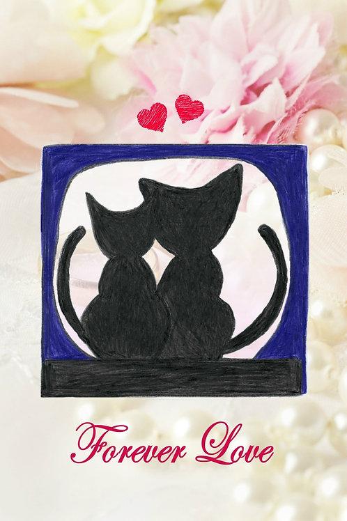 婚禮賀卡(情侶貓貓)