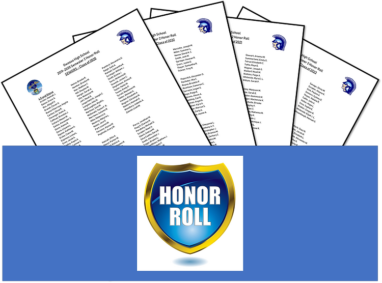 Graphic for S2 Honor Roll 2019-2020 Corr