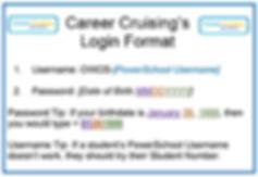 Career Cruising New Password Format Flye