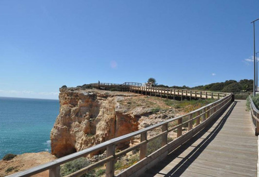 boardwalk along the cliffs