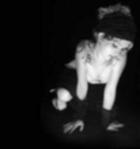 Menina de Goth triste