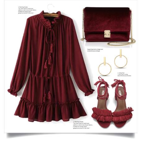 Mini Dress in Burgundy!