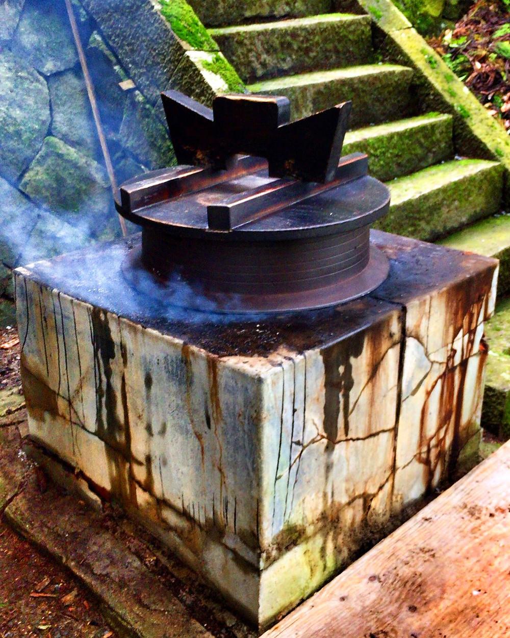 湯上げ用の大釜