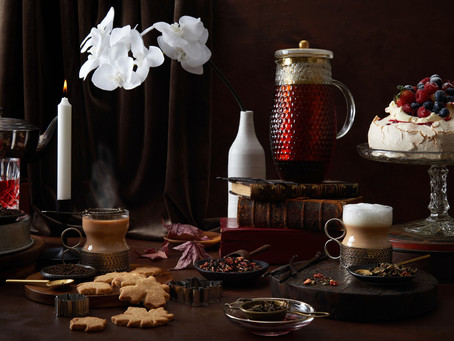 Creative styling for a Premium dessert tea