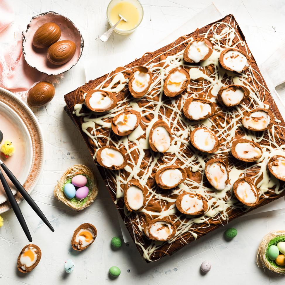 Easter brownie cake