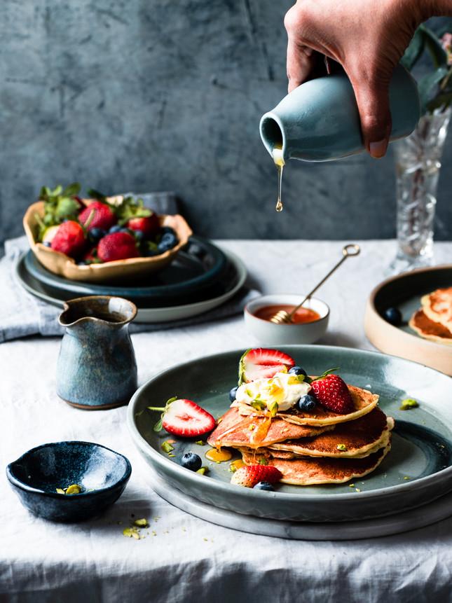 spelt pancakes using Biosota Honey_-3.jp