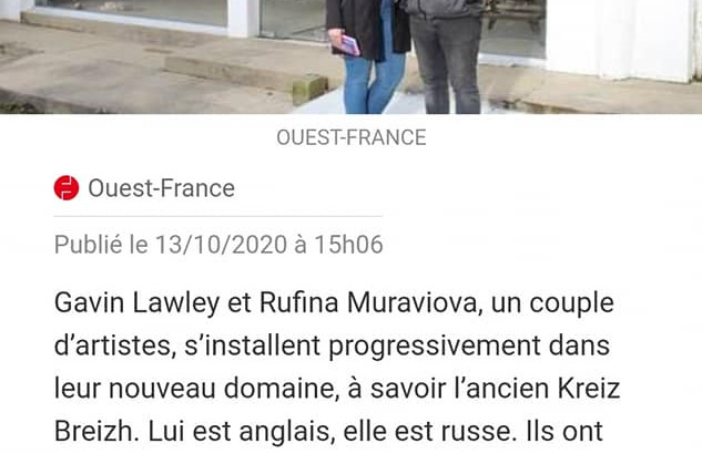 Ouest-France newspaper 14/10/20