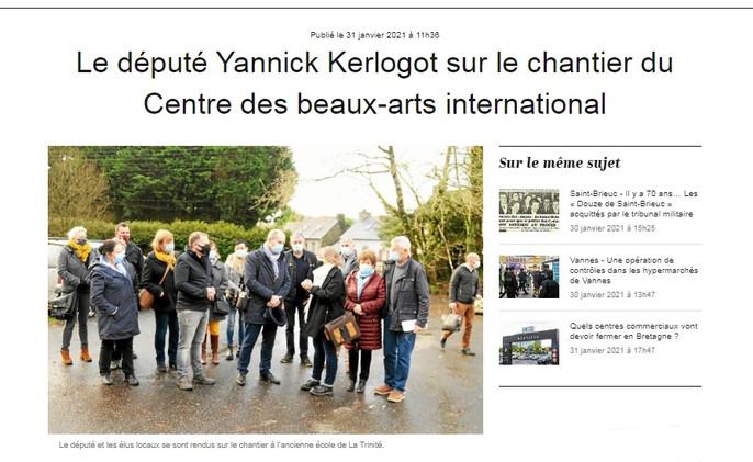 Le député Yannick Kerlogot
