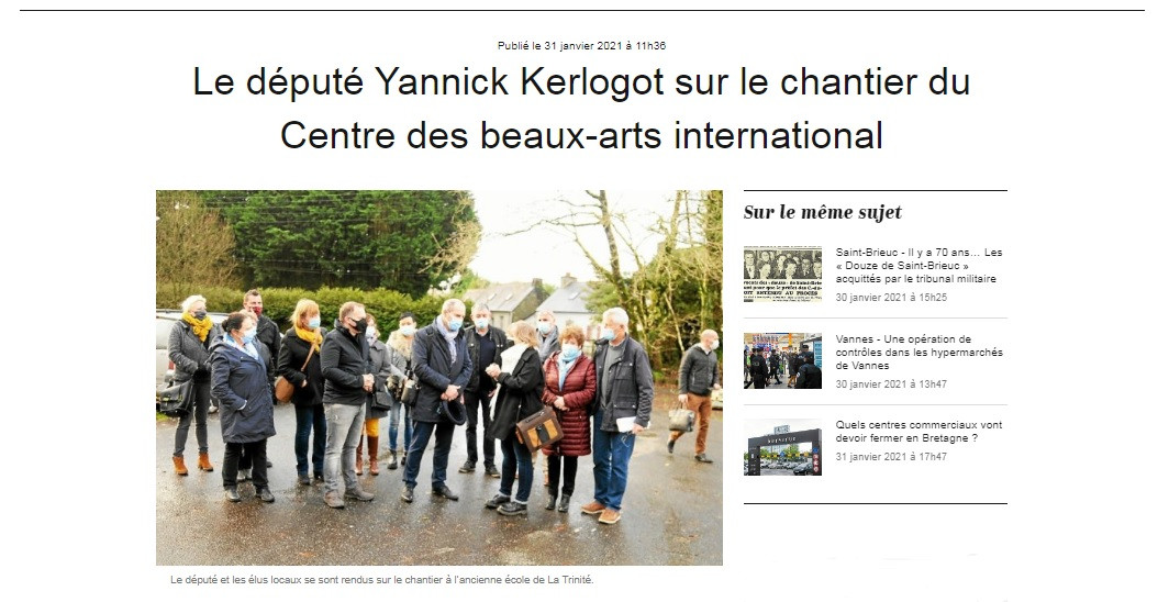Le député Yannick Kerlogot sur le chanti
