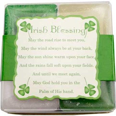 Irish Blessing Square votive candle set of 4