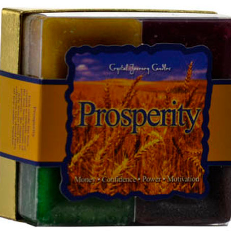 Prosperity Square votive candle set of 4