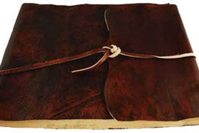 Ancient Earth Scrolls Leather Blank Book with Cord