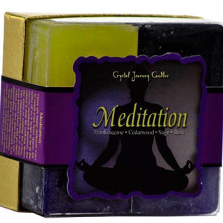 Meditation Square votive candle set of 4
