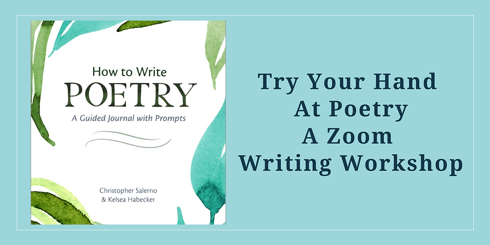Try Your Hand at Poetry Workshop - Starts May 4 meets 4 Sessions