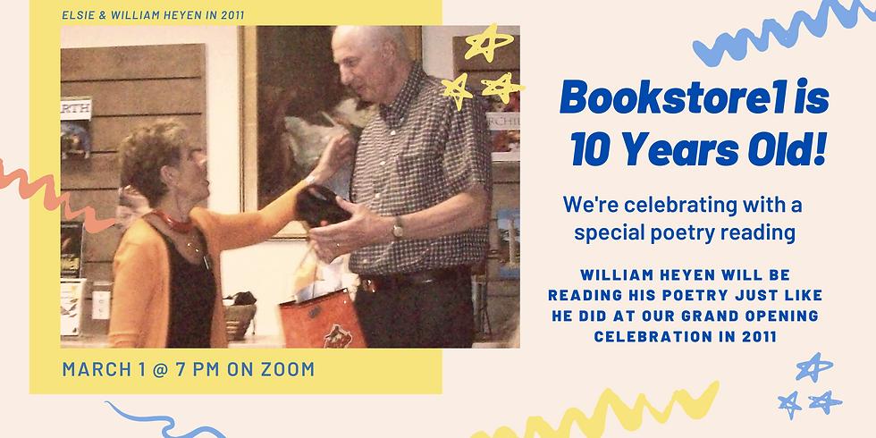 Bookstore1 10 year Anniversary Poetry Reading with William Heyen