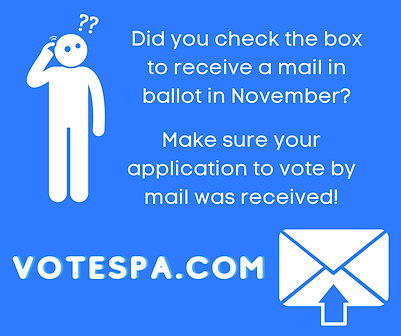 Forget if you requested to vote by mail