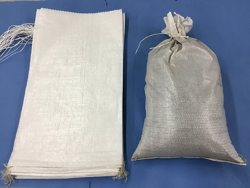 "14"" x 26"" Sandbag with tie string. 100 per bundle"
