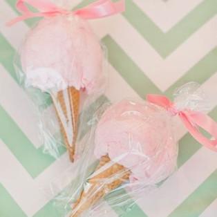 Cotton Candy Sugar Cones