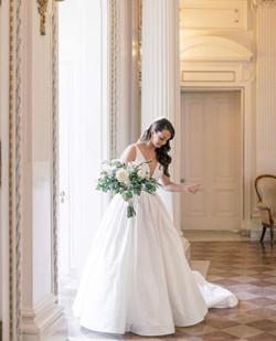 bride in museum